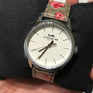 BNIB NEW COACH RUBY WATCH, Khaki/Pink/Silver